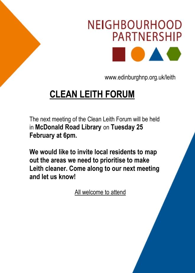 CleanLeithForum25February2014