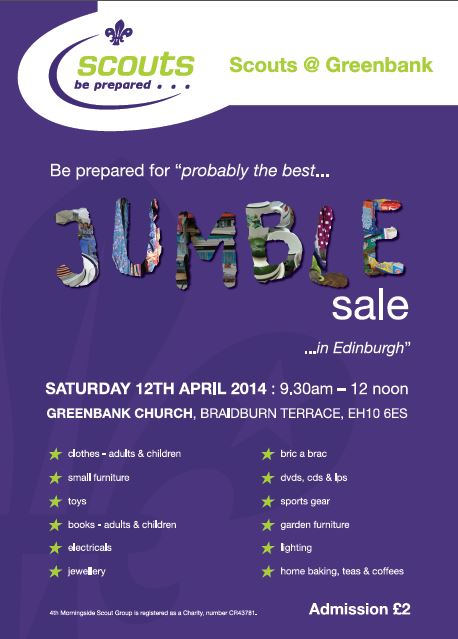 scout jumble sale