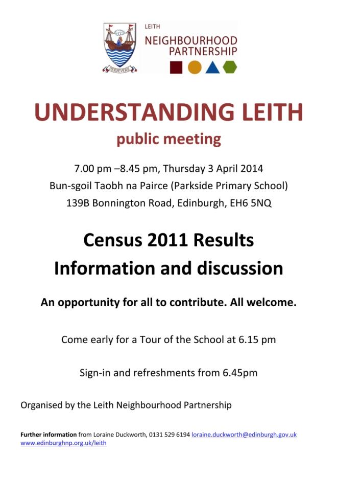Understanding Leith Poster