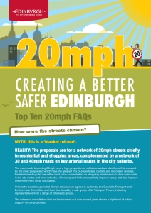 20mph Creating a better, safer Edinburgh FAQs-1