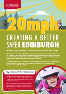 20mph Creating a better, safer Edinburgh - The facts 2-1