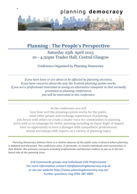 Planning Conference Flier