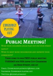 Poster Playing out Public Meeting 9th Feb 2016