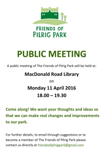 Friends of Pilrig Park_poster_April16