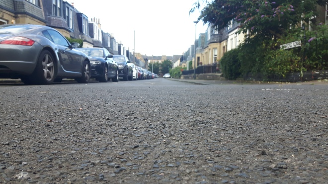 Road full of cars - copyright Leith Central Community Council 2018