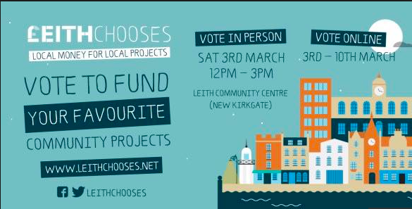 Leith Chooses  – Saturday 3 March 2018 – Volunteers Needed