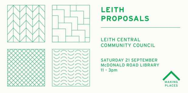 Leith Proposals event coming up