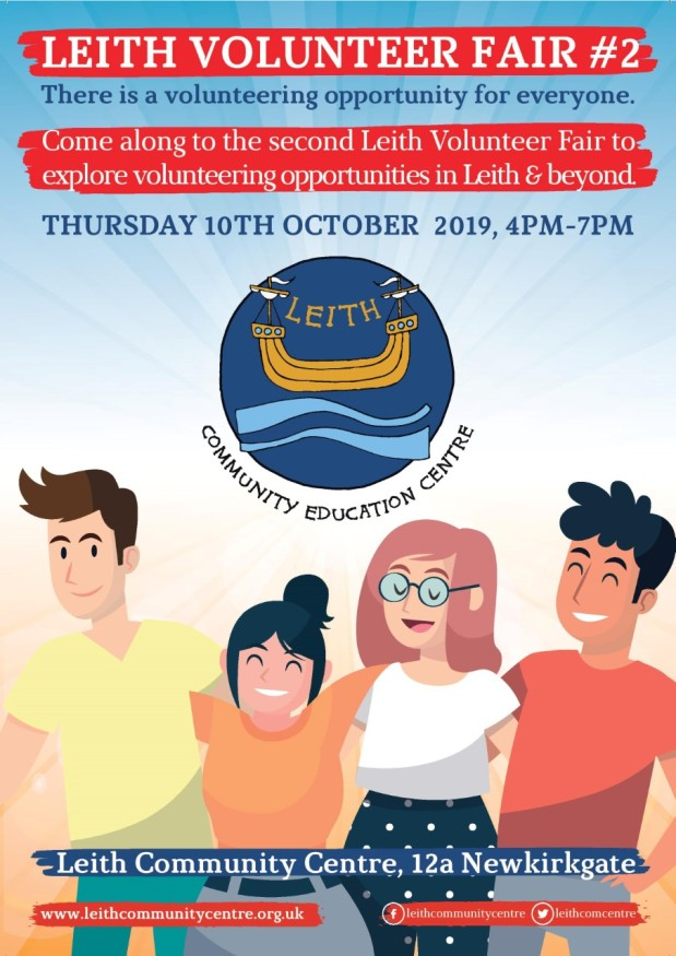 Leith Volunteer Fair #2 in October